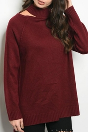 LoveRiche Wine Sweater - Front cropped