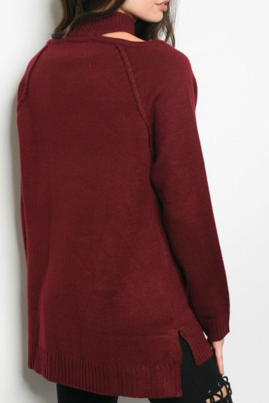 LoveRiche Wine Sweater - Front Full Image