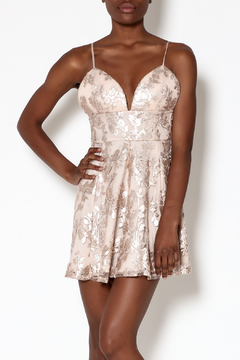 Lovers + Friends Rose Gold Mini Dress - Product List Image