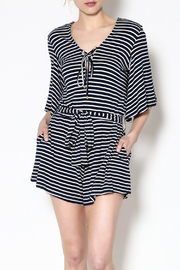 Lovers + Friends Navy Malia Romper - Product Mini Image