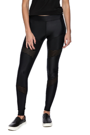 Lovers + Friends Mesh Work Out Leggings - Front cropped
