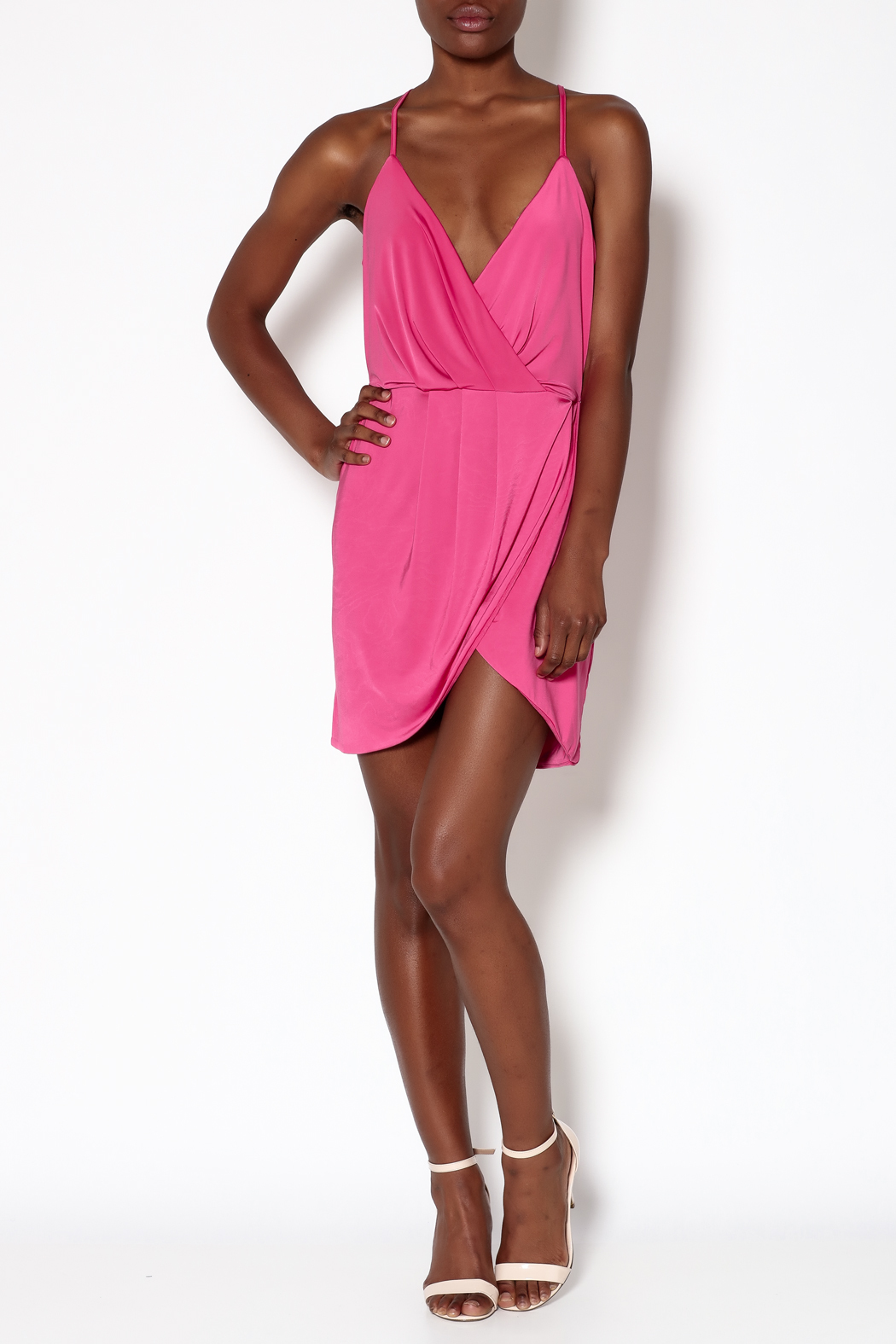 Lovers + Friends Pink Muse Dress - Front Full Image