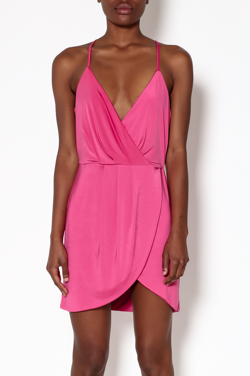 Lovers + Friends Pink Muse Dress - Side Cropped Image