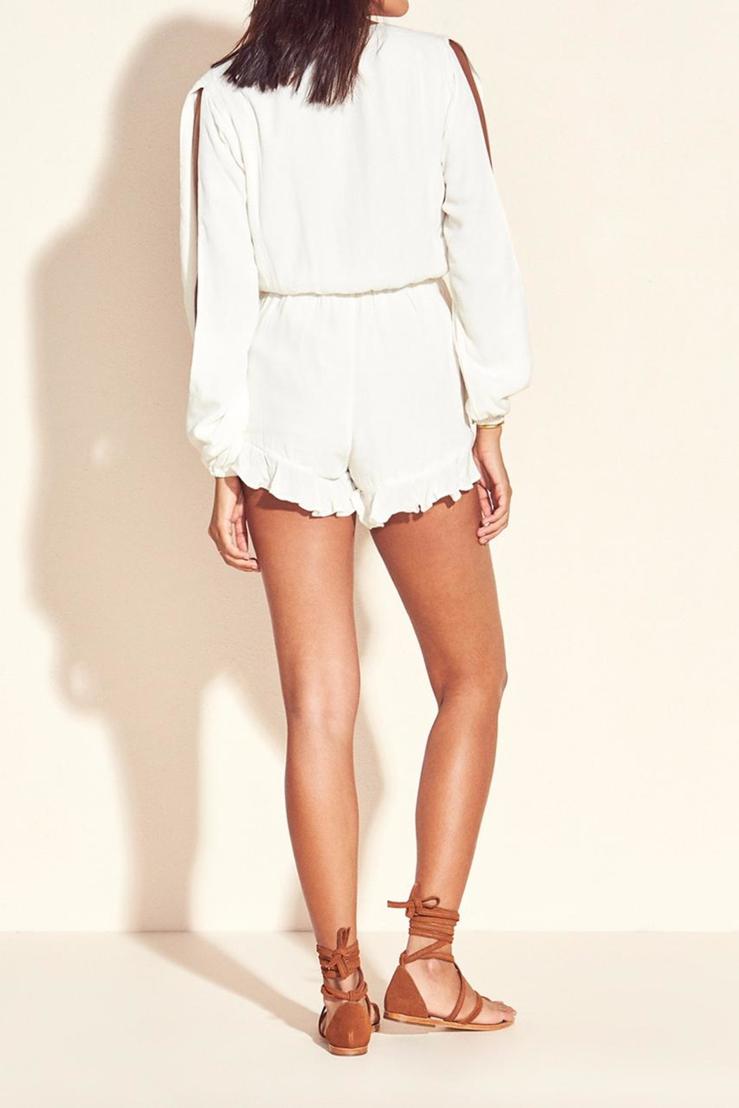 Lovers + Friends Adriana Romper Ivory - Front Full Image
