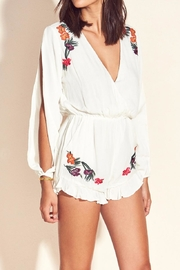 Lovers + Friends Adriana Romper Ivory - Front cropped