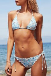 Lovers + Friends Going Ashore Watercolor Swimwear - Front cropped