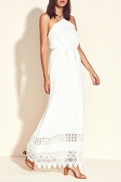 Lovers + Friends White Halter Maxi Dress - Product List Image