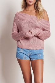 Lovers + Friends Sandy Crop Sweater - Front cropped