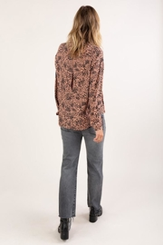 Lovestitch Abstract Animal Print Button Up Shirt - Back cropped