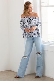 Lovestitch Abstract Tie Dye Smocked Off Shoulder Top - Other