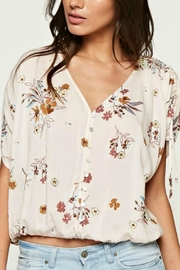 Lovestitch Almond Floral Blouse - Product Mini Image