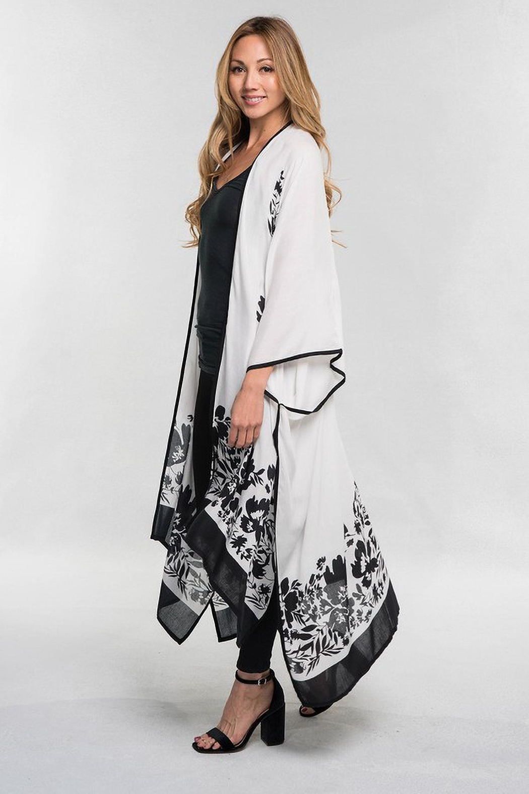 Lovestitch B W Kimono Cover Up From Los Angeles By Karen Michelle Boutique Shoptiques