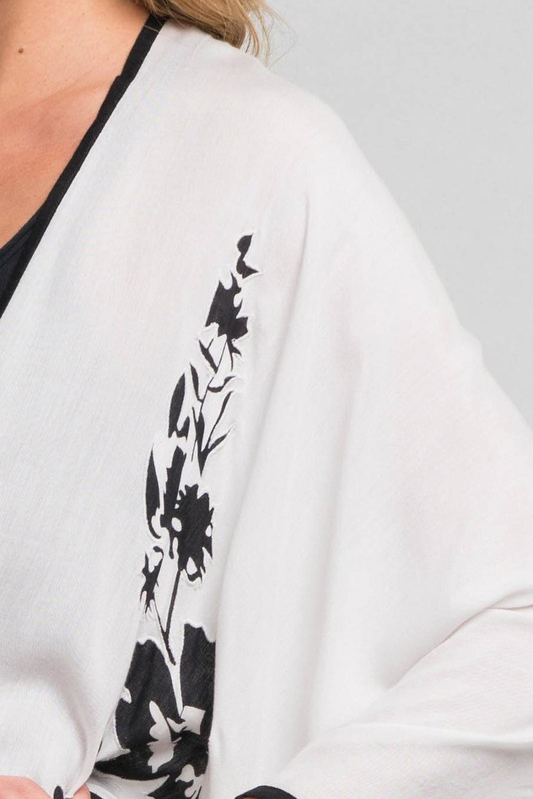 Lovestitch B/w Kimono Cover-Up - Side Cropped Image