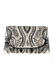Lovestitch Beaded Embroidered Clutch - Front cropped