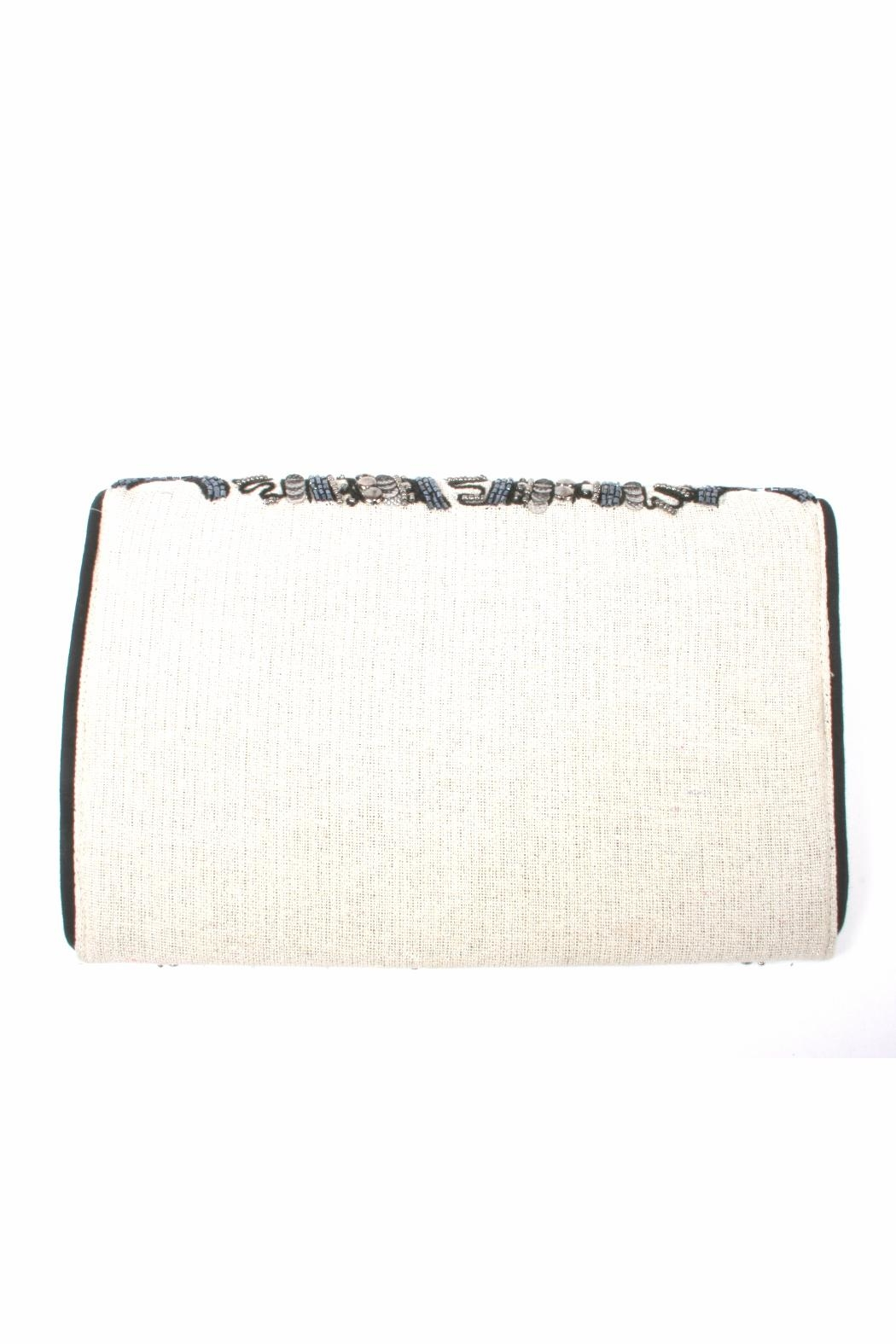 Lovestitch Beaded Embroidered Clutch - Front Full Image