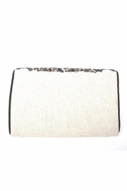 Lovestitch Beaded Embroidered Clutch - Front full body