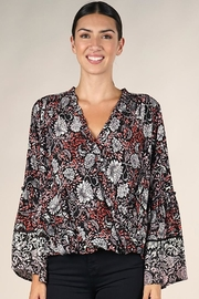 Lovestitch Bell Sleeve Surplice Top - Other
