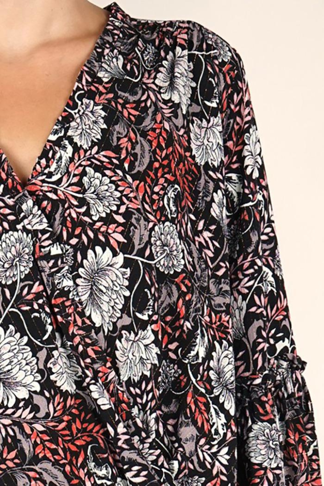Lovestitch Bell Sleeve Surplice Top - Side Cropped Image