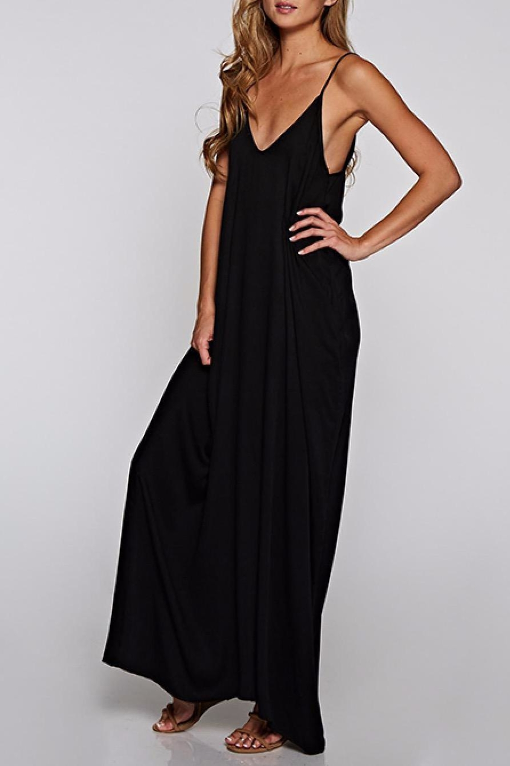 Lovestitch Black Cocoon Maxi - Side Cropped Image