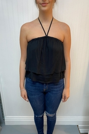 Lovestitch Black Ruffle Tank - Product Mini Image