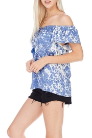 Lovestitch Blue Graphic Print Top - Product Mini Image