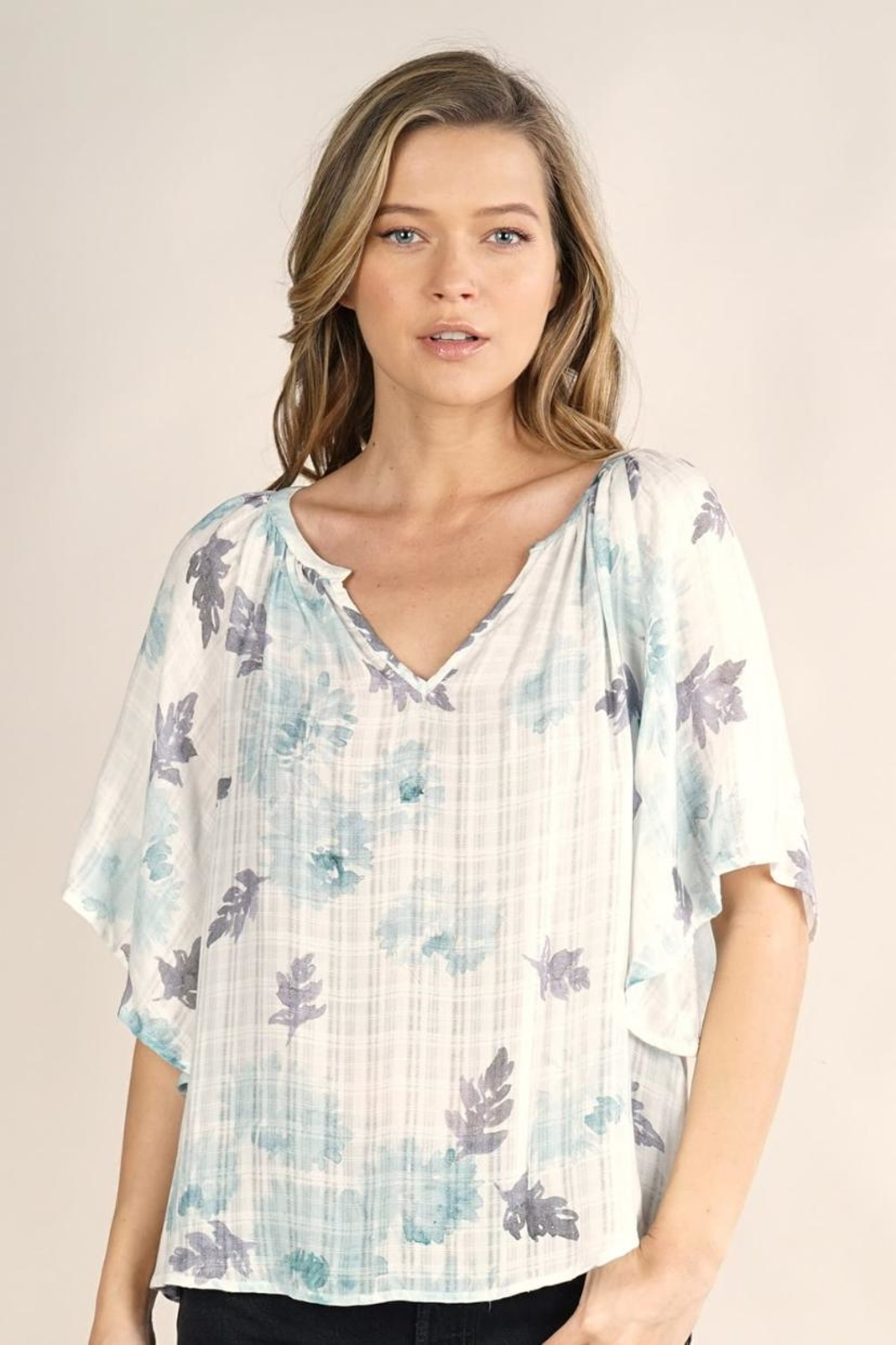 Lovestitch Butterfly Sleeve Top - Main Image
