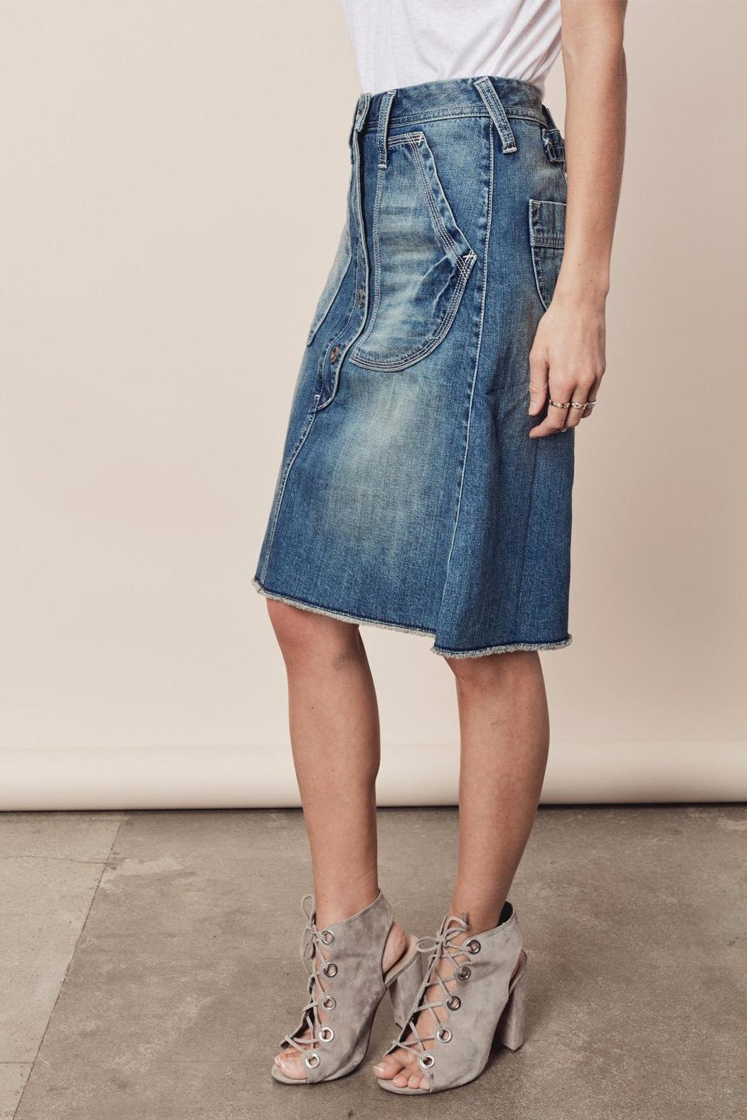 Lovestitch Button-Down Denim Skirt from California by Denim Spot ...
