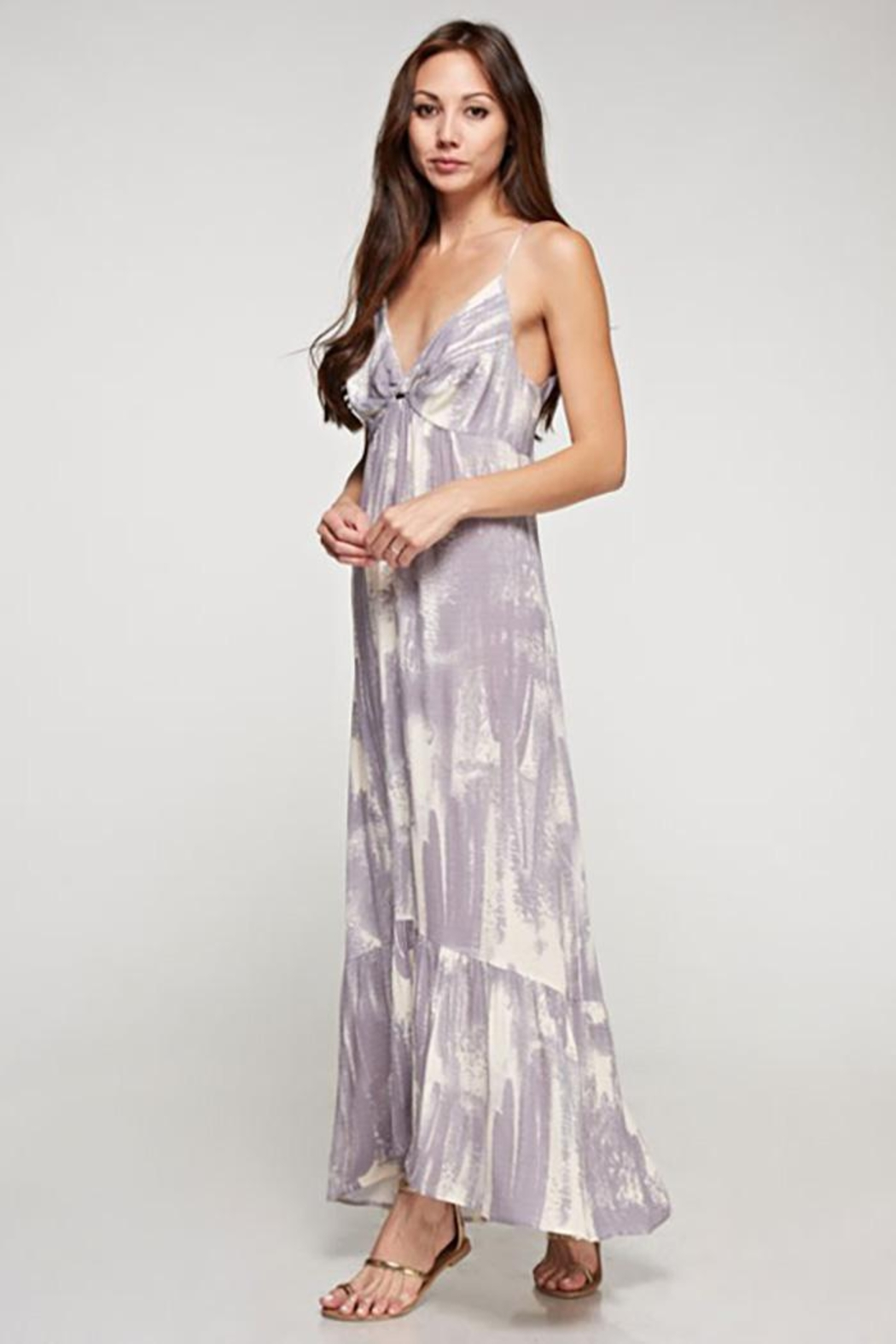 Lovestitch Cactus Twist Front Maxi Dress - Front Full Image