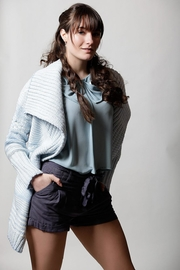 Lovestitch Baby Blue Sweater - Front cropped