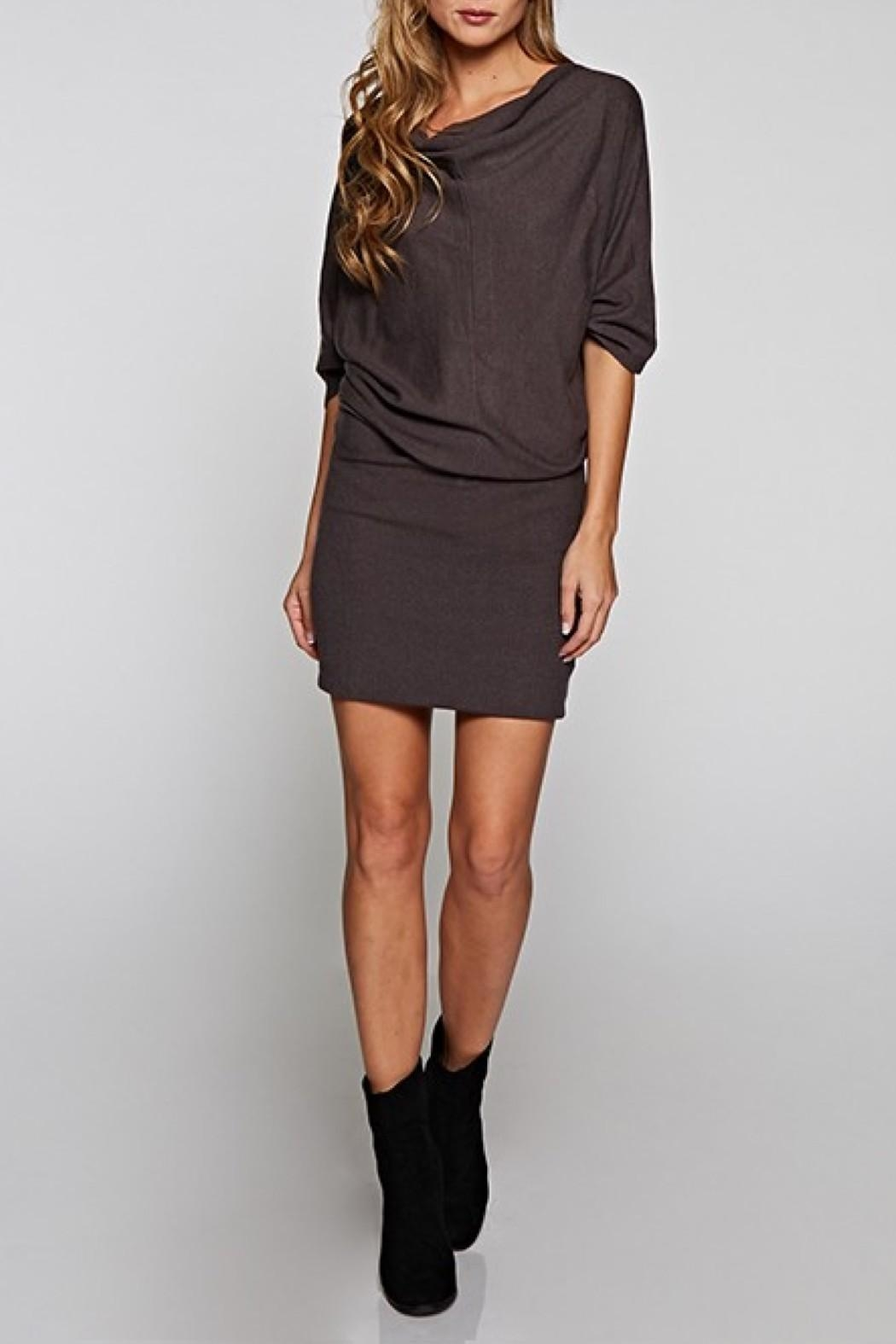 Lovestitch Cowlneck Sweater Dress - Front Full Image
