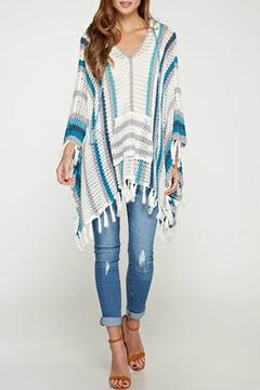 Shoptiques Product: Crochet Hooded Poncho