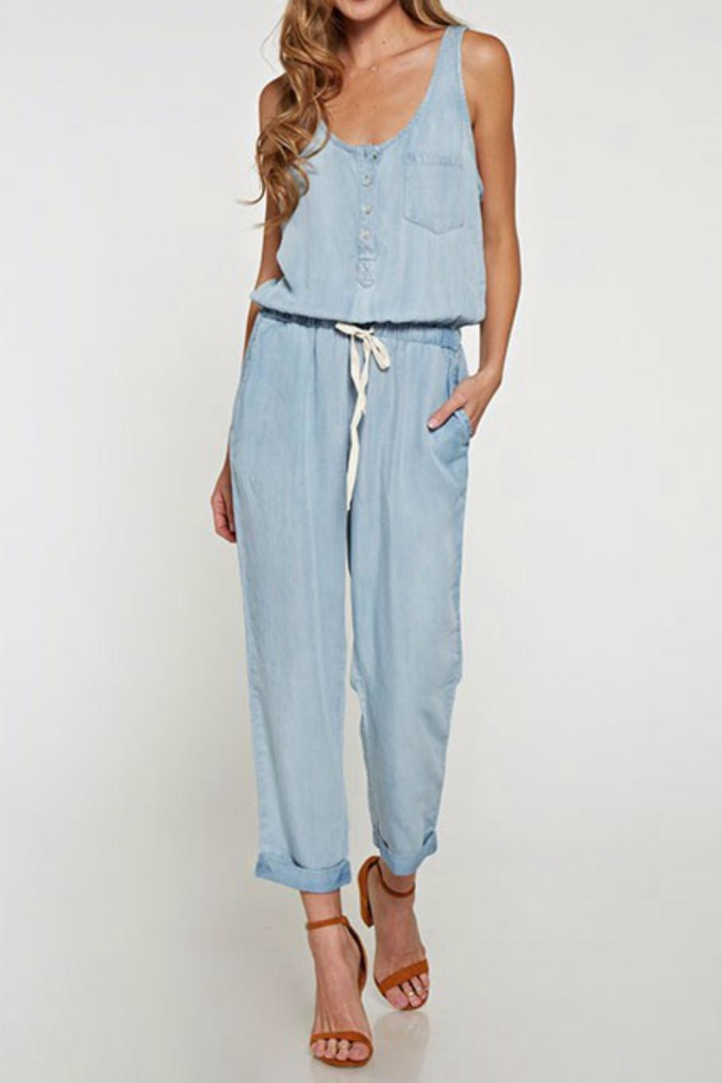 0c7763a7d64 Lovestitch Denim Jumpsuit from Tennessee by Threads — Shoptiques