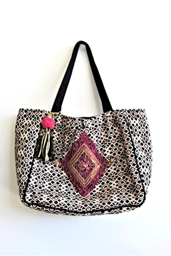 Shoptiques Product: Diamond Embroidered Tote