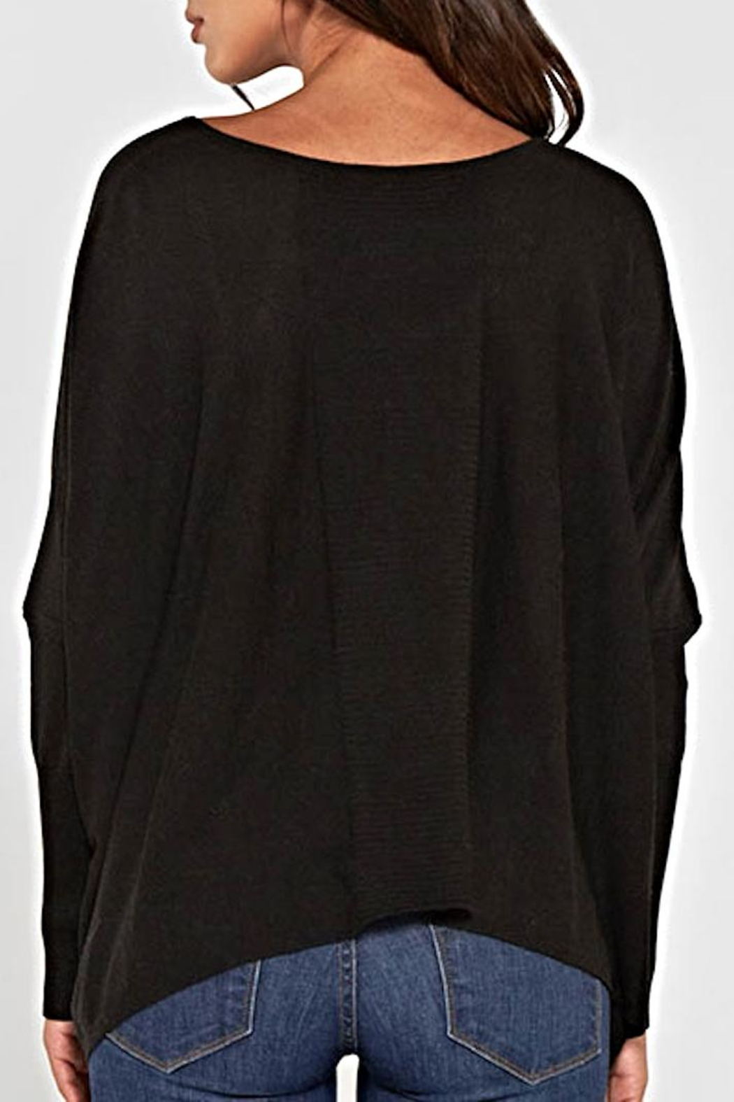 Lovestitch Dolman Sleeve Sweater - Back Cropped Image
