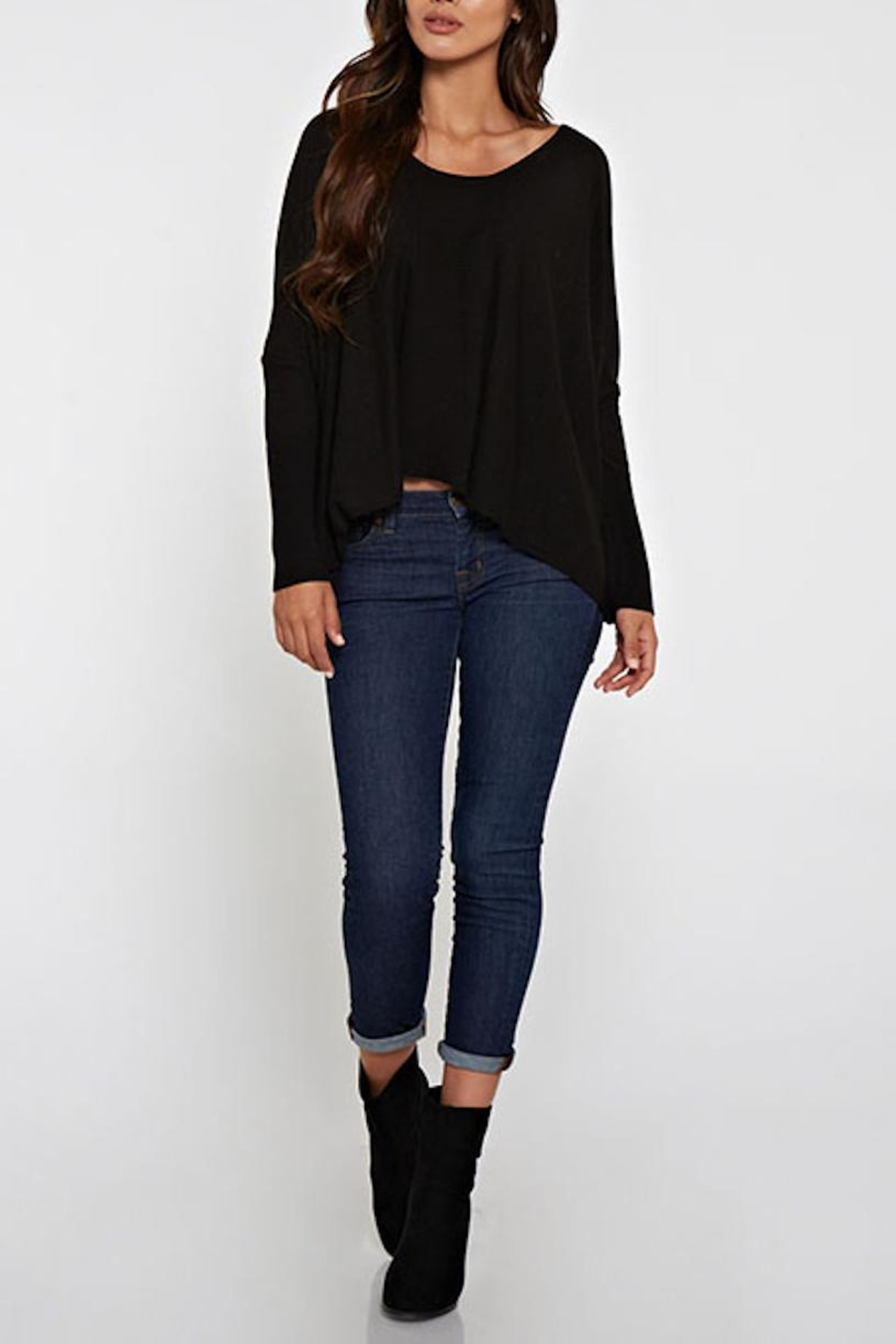 Lovestitch Dolman Sleeve Sweater - Front Cropped Image