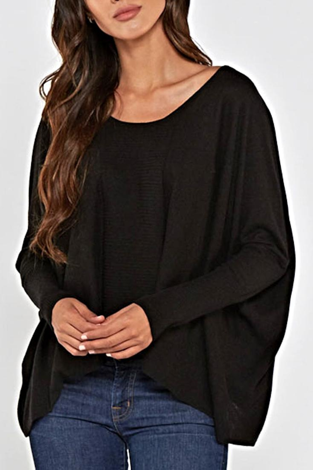 Lovestitch Dolman Sleeve Sweater - Front Full Image