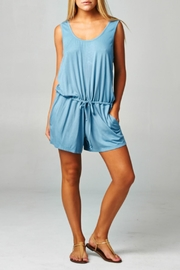 Lovestitch Drawstring Blue Romper - Product Mini Image