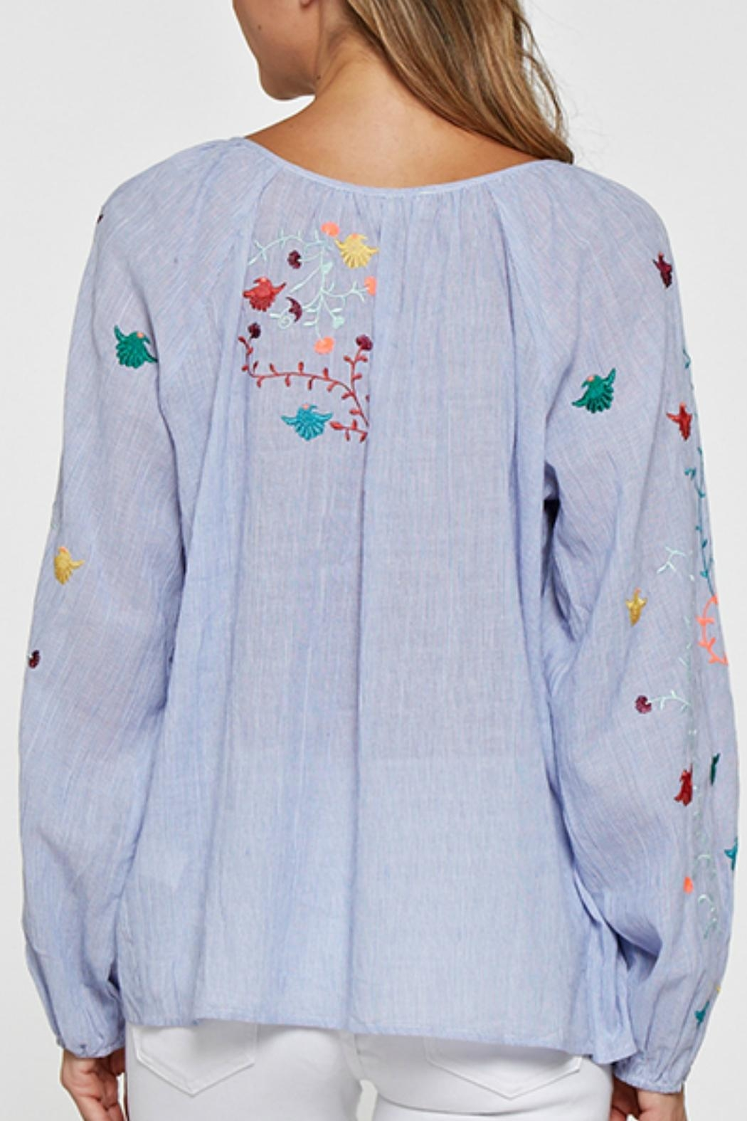 Lovestitch Embroidered Blouse - Front Full Image