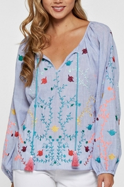 Lovestitch Embroidered Blouse - Product Mini Image