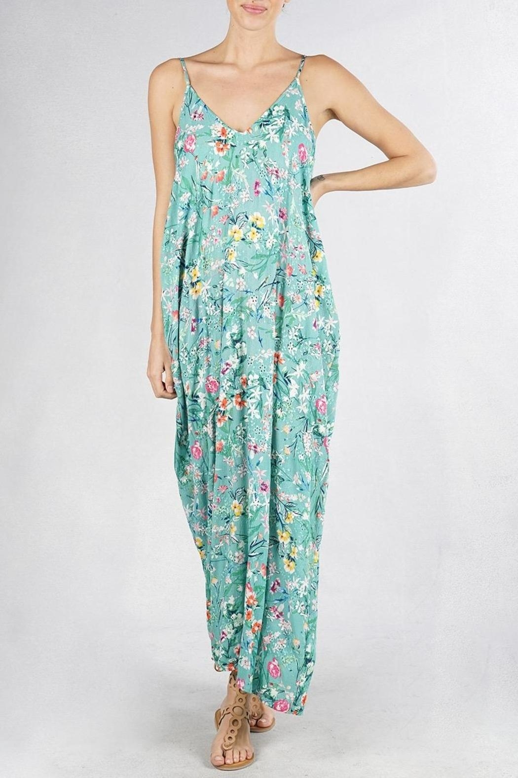 Lovestitch Embroidered Floral Maxi - Main Image