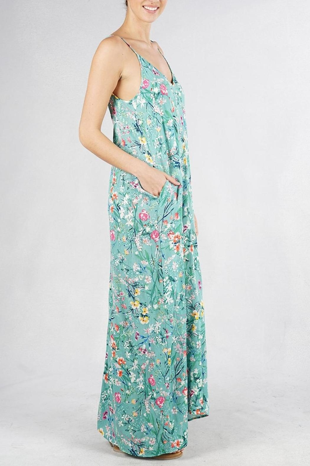 Lovestitch Embroidered Floral Maxi - Front Full Image