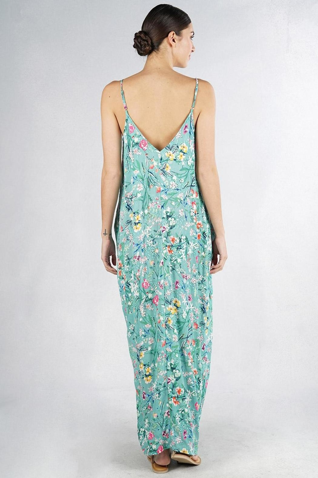 Lovestitch Embroidered Floral Maxi - Side Cropped Image