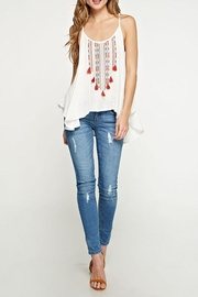 Lovestitch Embroidered Swing Tank - Front cropped