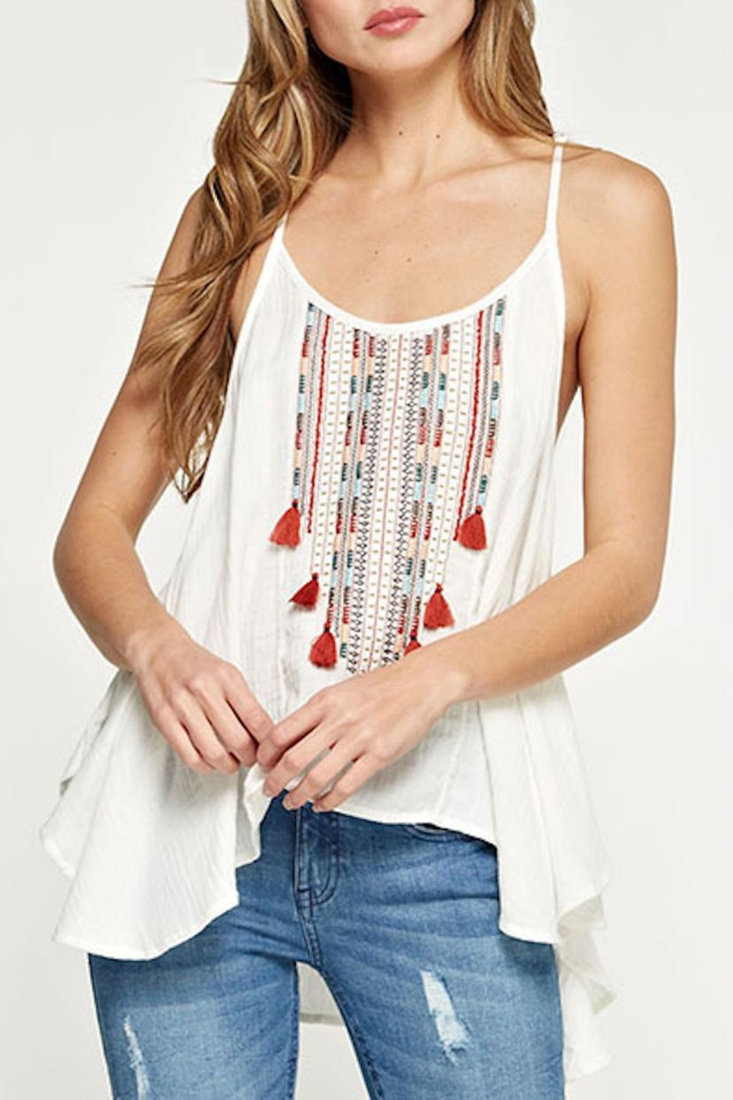 Lovestitch Embroidered Swing Tank - Front Full Image