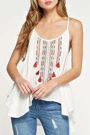 Lovestitch Embroidered Swing Tank - Front full body