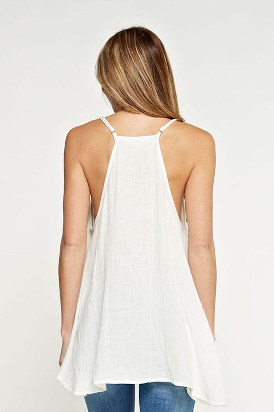 Lovestitch Embroidered Swing Tank - Side Cropped Image