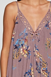 Lovestitch Embroidered V-Neck Maxi Dress - Side cropped