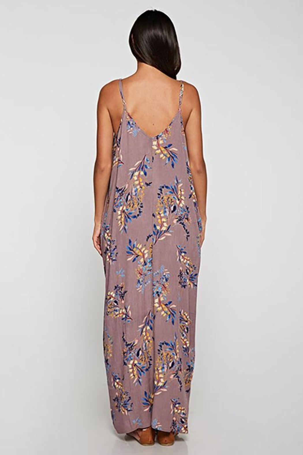Lovestitch Embroidered V-Neck Maxi Dress - Front Full Image