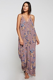 Lovestitch Embroidered V-Neck Maxi Dress - Front cropped