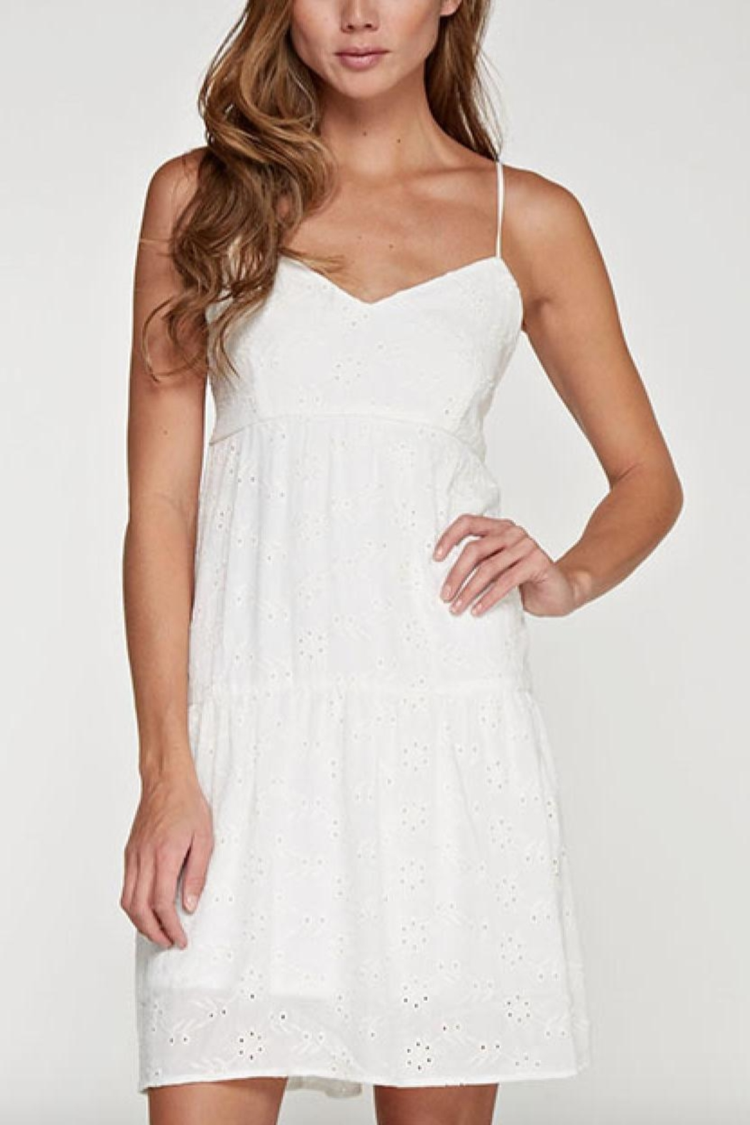 Lovestitch Eyelet Dress - Front Cropped Image